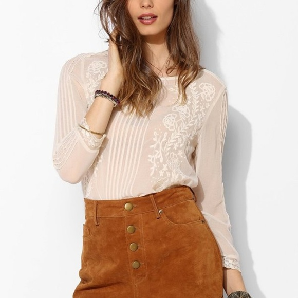 Staring at Stars Pants - BDG Staring at Stars UO Suede Leather Shorts